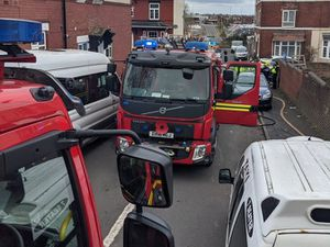 Firefighters at the scene. Photo: Haden Cross Fire Station