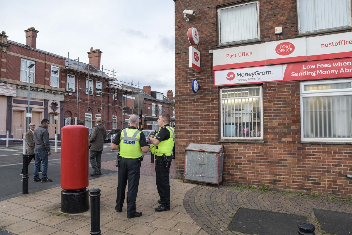 Officers patrolled streets nearby after the stab attack. Picture: @SnapperSK