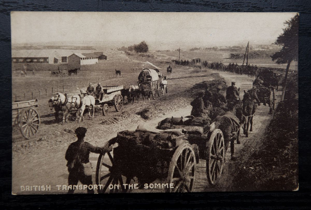 There are a large number of World War one card, including British Transport on the Somme during WW1