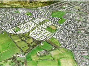 An artist's impression of how the proposed housing development will look