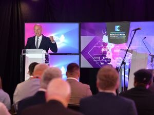 DUDLEY PIC MNA PIC  DAVID HAMILTON PIC  EXPRESS AND STAR 4/10/21 Speaking at the opening of Black Country Business Festival, chief executive of the Black Country Chamber of Commerce Corin Crane, at Cable Plaza, Brierley Hill..