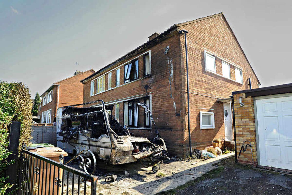 Caravan set on fire outside Walsall home