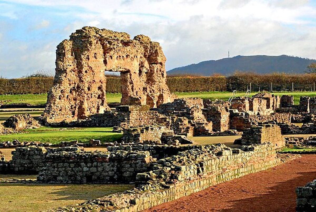 The Roman city of Viroconium, now Wroxeter in Shropshire
