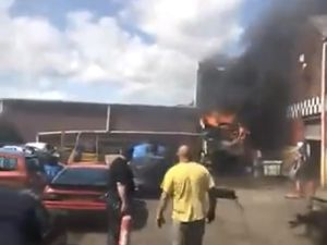 The scene of the fire. Photo: West Midlands Fire Service