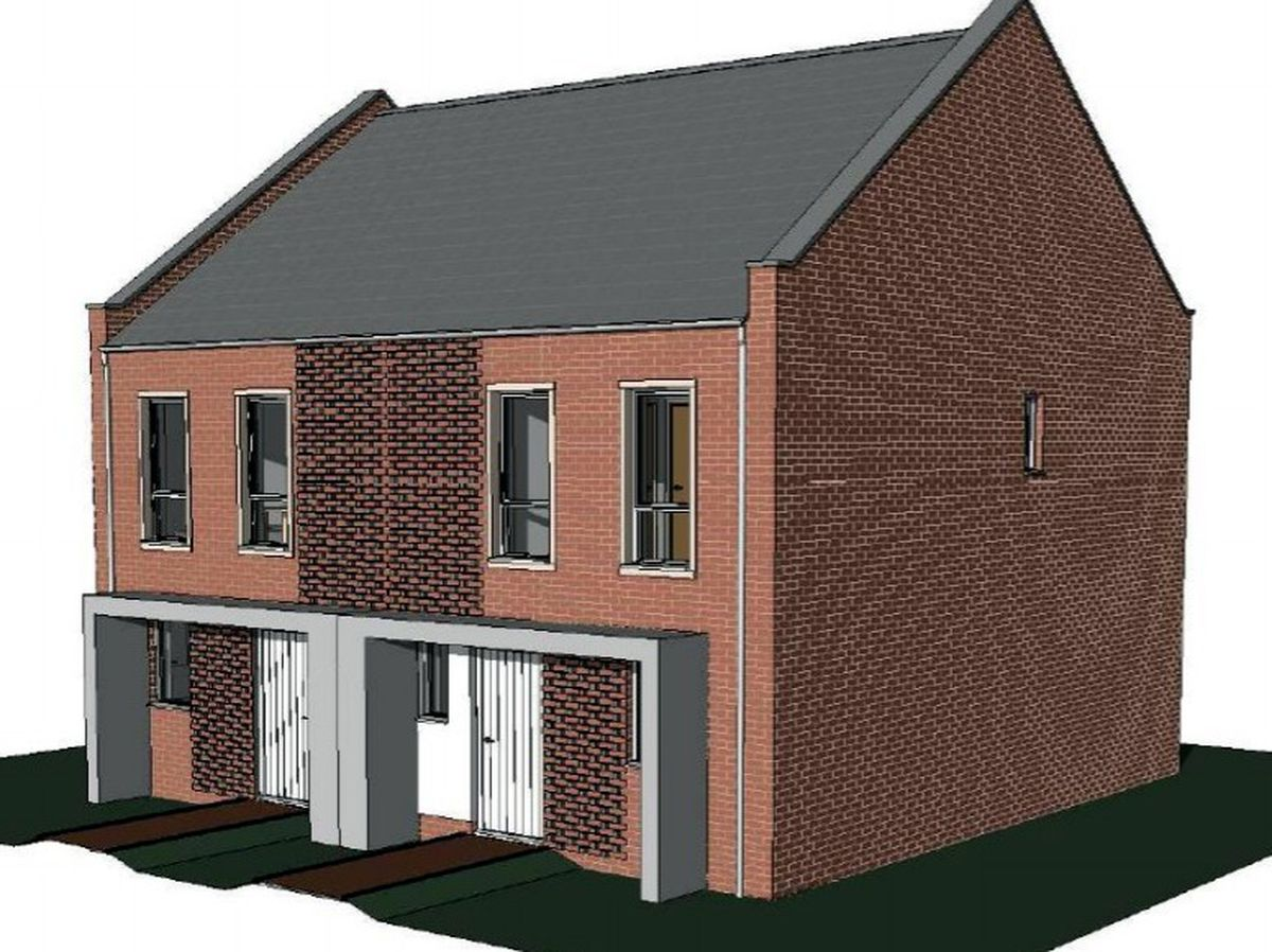Artist impression of proposed homes that could be built behind the Halfway House in Tettenhall, Wolverhampton. PIC: Stephen George & Partners