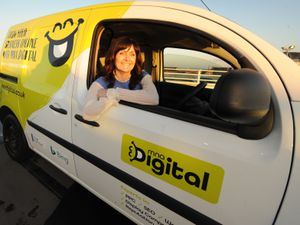 With the MNA Digital van is managing director Louise Burns