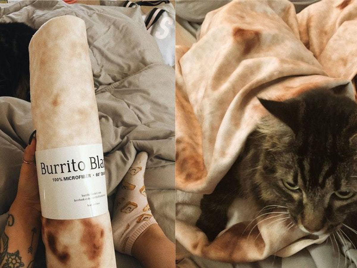 A burrito blanket delivered to a Twitter user
