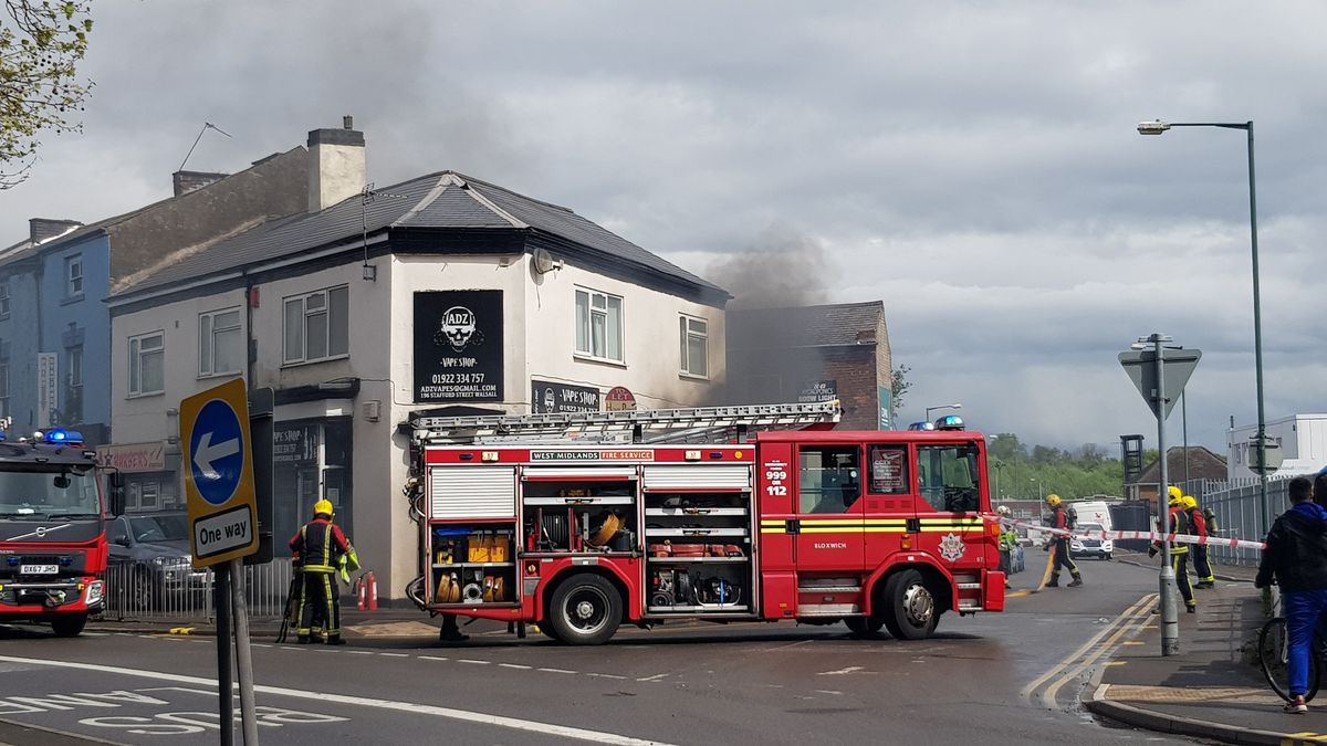 The scene of the fire in Walsall. Photo: Jon Shaw