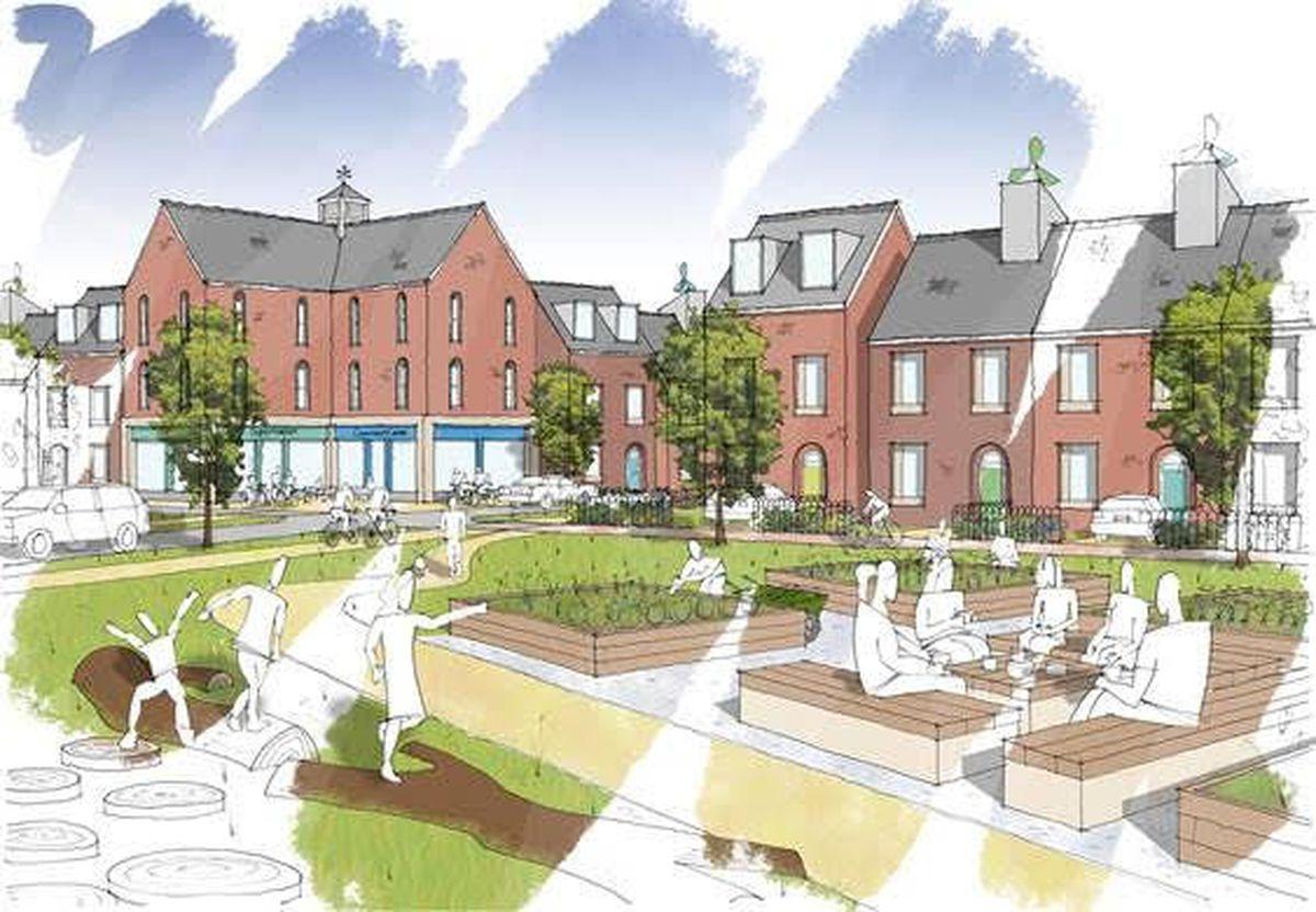 Artist impression of the proposed Monument Park Garden Village