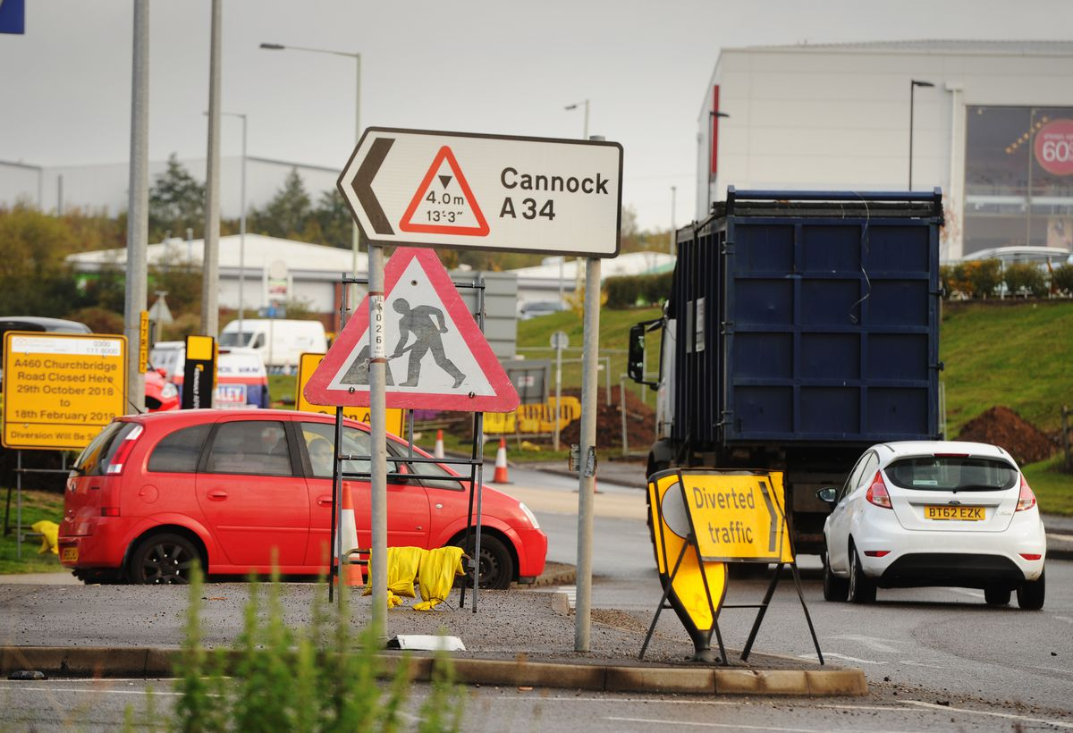The roadworks are scheduled to start on Monday and last for 72 weeks