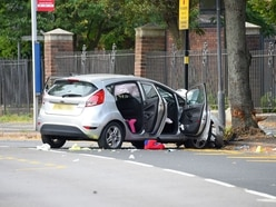 Four children and woman seriously injured after car hits tree in Birmingham