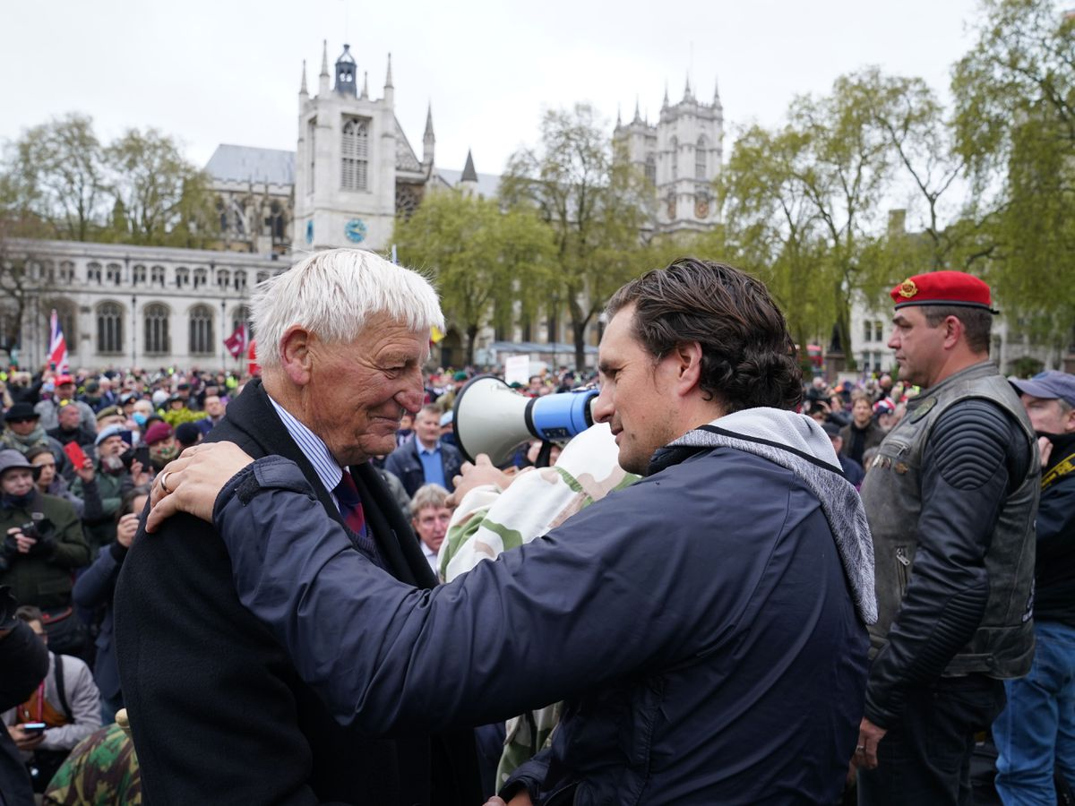 Johnny Mercer at veterans march