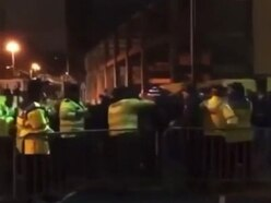 WATCH: Slovan fans clash with police outside Molineux