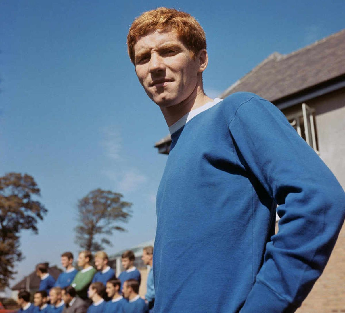 Alan Ball in the blue of Everton