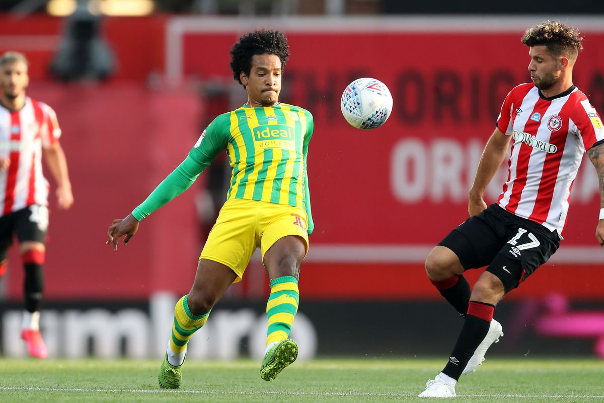 Matheus Pereira of West Bromwich Albion and Emiliano Marcondes Camargo Hansen of Brentford. (AMA)