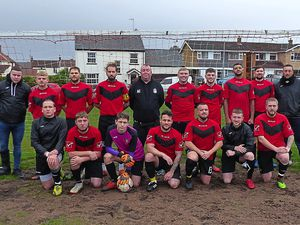 Woodside Inn battled their way to a hard-fought 2-1 success against Blades FC  Picture Simon Cater