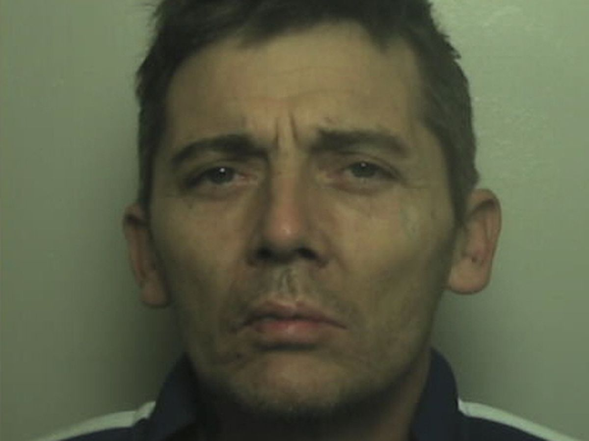 Jason Bayley, from Wednesbury, drove with his lights off in a bid to escape police