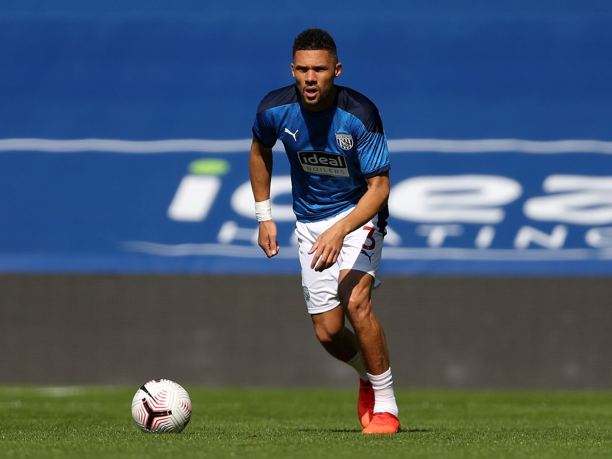 Kieran Gibbs of West Bromwich Albion during the pre-match warm up.