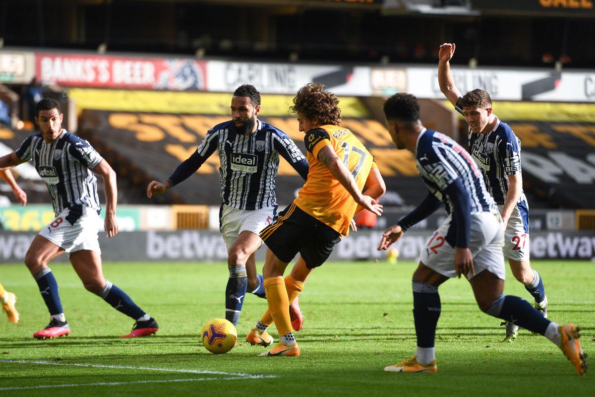 Fabio Silva of Wolverhampton Wanderers scores a goal to make it 1-1. (AMA)