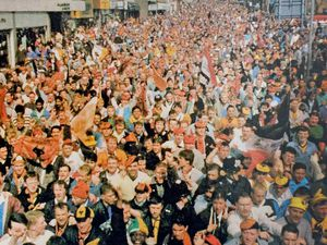 Thousands turned out to celebrate Wolves' trophy win