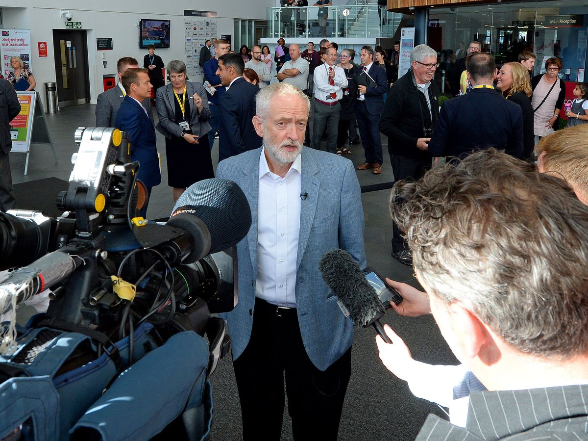 Jeremy Corbyn visited Walsall College of Further Education on Wednesday