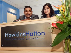 Paul Rodrigues and Harminder Sandhu at Hawkins Hatton