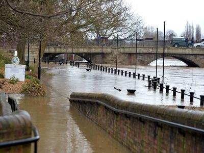 WATCH: Bridgnorth left under water by River Severn flooding