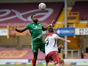 Manny Monthe in action for Walsall