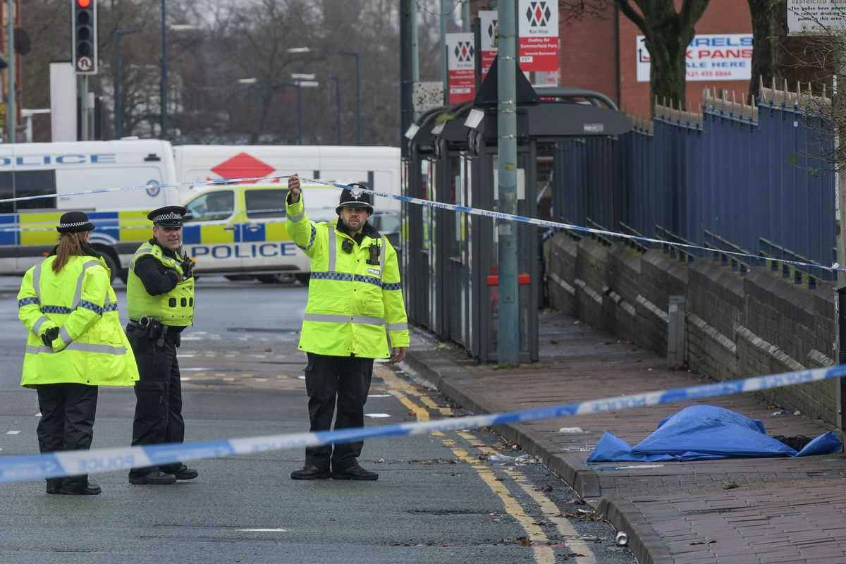 Emergency services at the scene in Winson Green. Photo: SnapperSK.