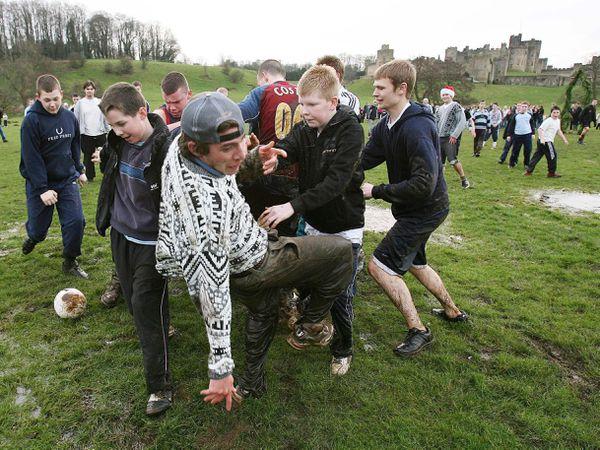 Alnwick Shrove Tuesday football match