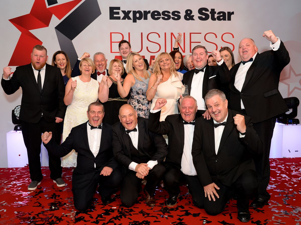 Time to party! Pallet-Track celebrate winning the Business of the Year award