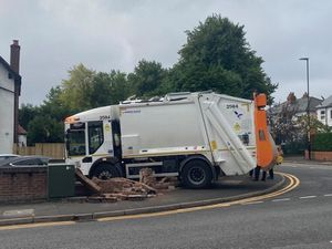 The aftermath of a crash in Jockey Road