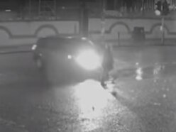 WATCH: Moment pensioner is struck by car in hit-and-run
