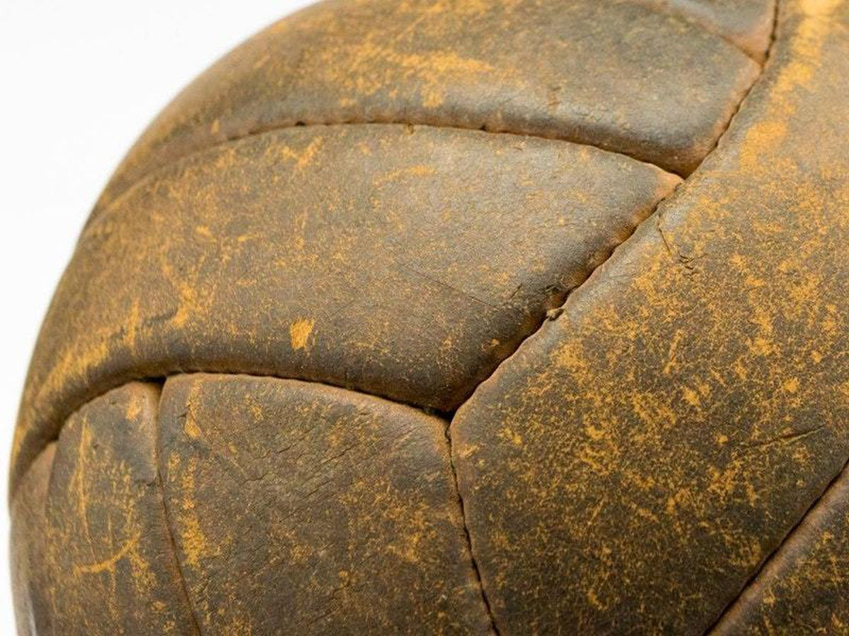 The 1953 Wembley FA Cup final football has been sold at auction (Mark Laban – Hansons/PA)