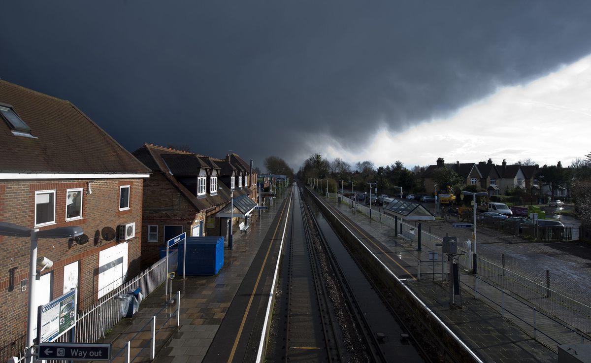 Dark rain clouds form