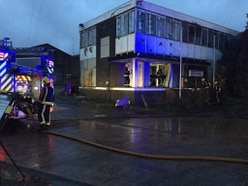 Fire sweeps through derelict office block in Old Hill