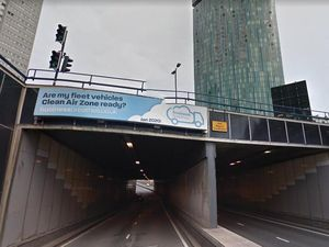 One of the iconic A38 tunnels taking traffic through Birmingham city centre. Photo: Google