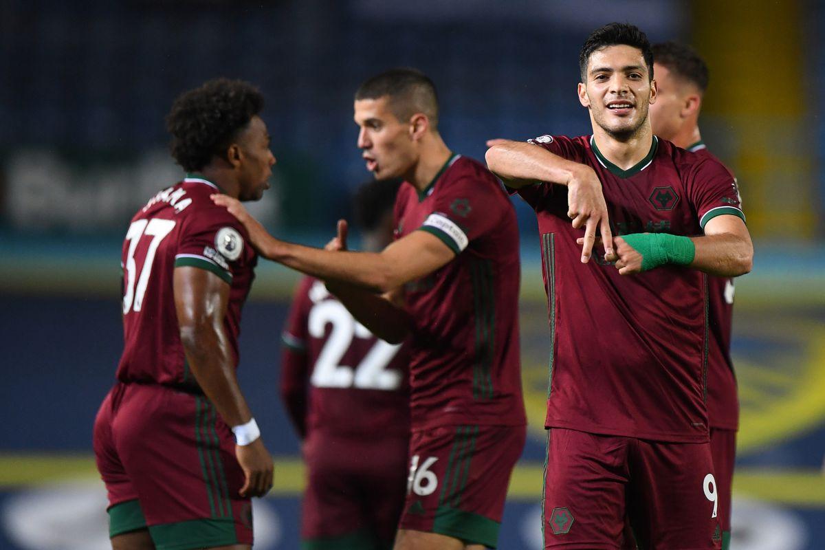 Raul Jimenez of Wolverhampton Wanderers celebrates after scoring a goal to make it 0-1 (AMA)