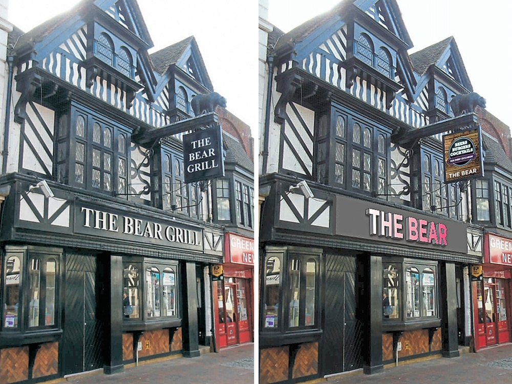 Revamp of The Bear Grill backed despite concerns