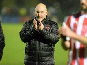 SPORT COPYRIGHT EXPRESS AND STAR STEVE LEATH 09/11/19..Stourbridge FC V Eastleigh.  S: Ian Long (Manager)..