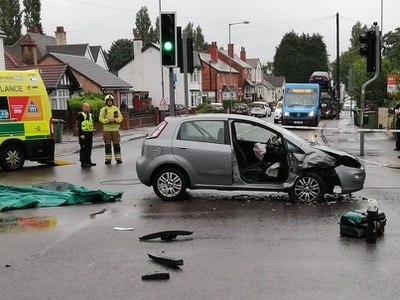 Woman taken to hospital after Willenhall crash