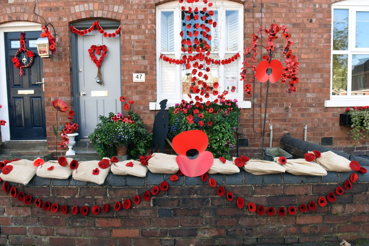 Poppies have been hung outside homes
