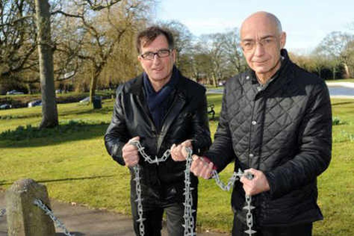 Park chains ripped out in night-time robberies