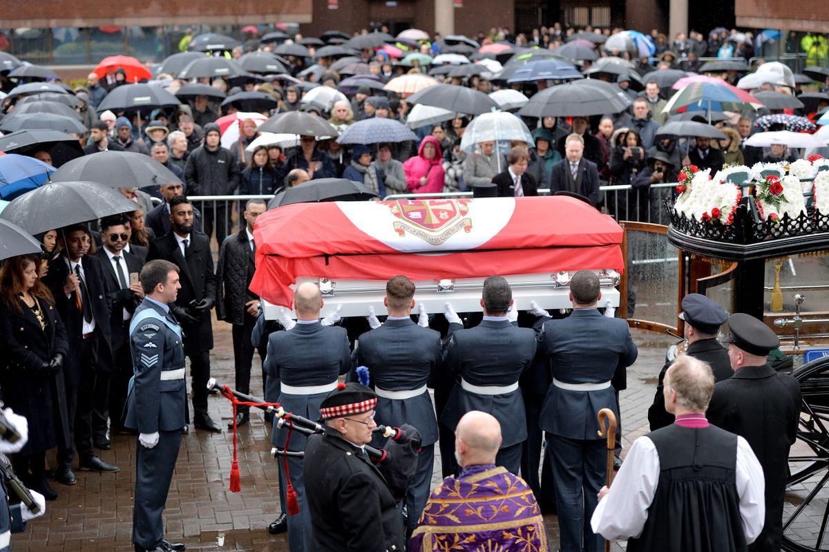 Funeral service for Mayor of Wolverhampton Elias Mattu at St Peter's Church
