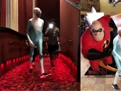 Where's my supersuit? – Man dressed as Frozone surprises Incredibles II audience