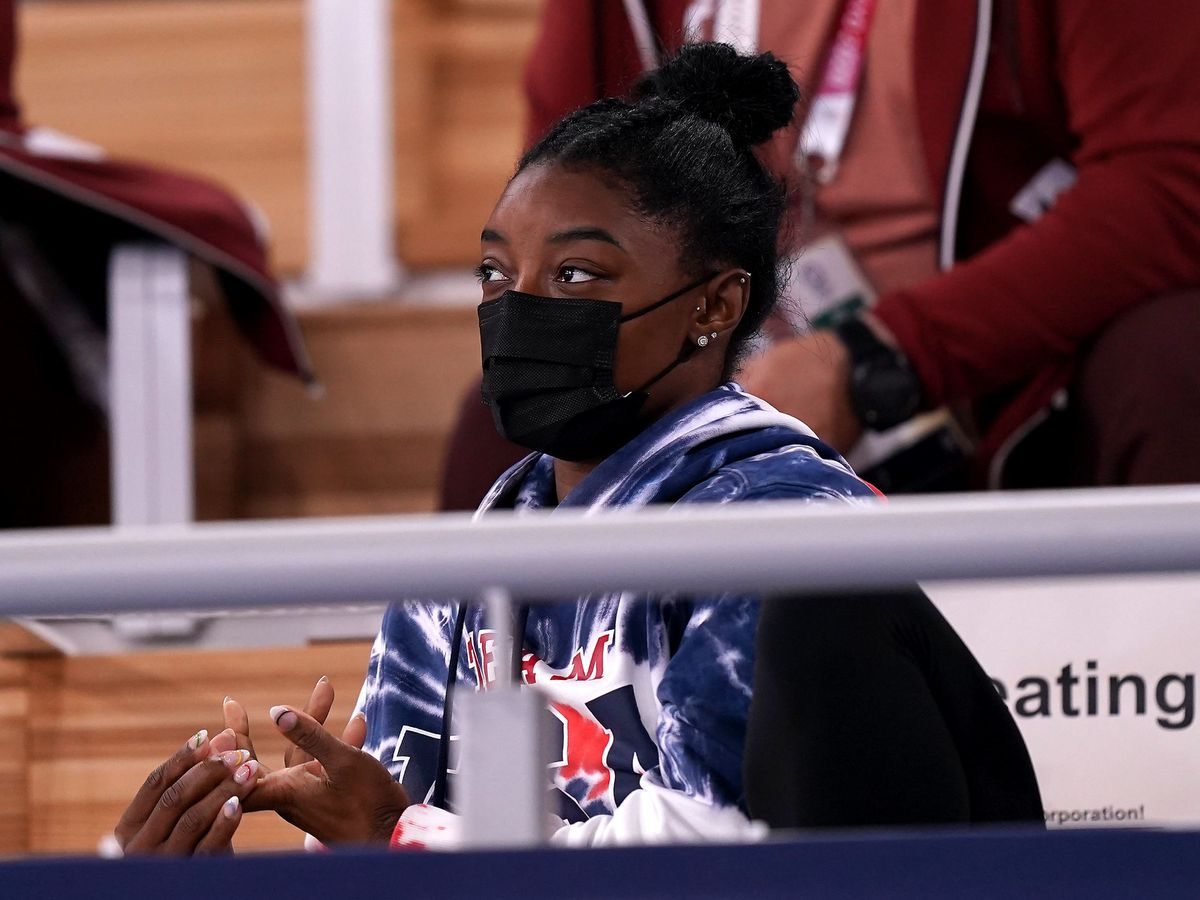 Simone Biles has thanked friends and family for their support