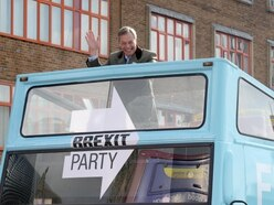 'I'm here to rescue Brexit': Nigel Farage arrives in Birmingham on battle bus - with VIDEO and PICTURES