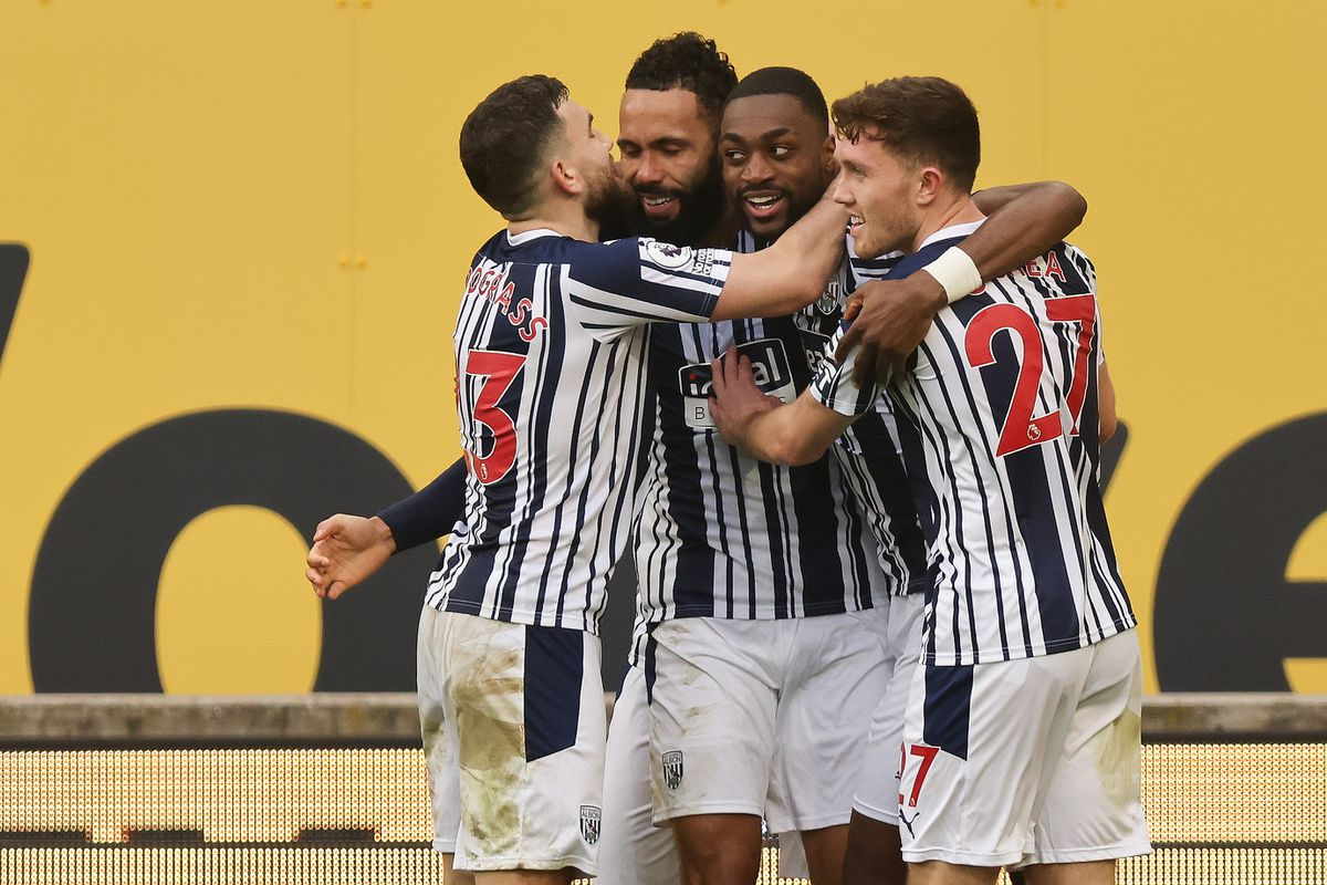 Semi Ajayi of West Bromwich Albion celebrates after scoring a goal to make it 2-2. (AMA)