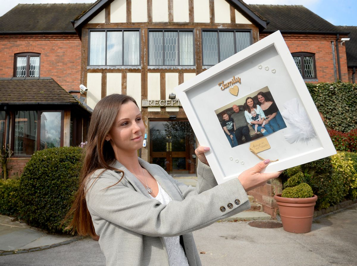 Jess Clark, who is organising a charity event at The Moat House, Acton Trussell, to raise money for Macmillan's. She lost her dad Anthony in 2019 to cancer.