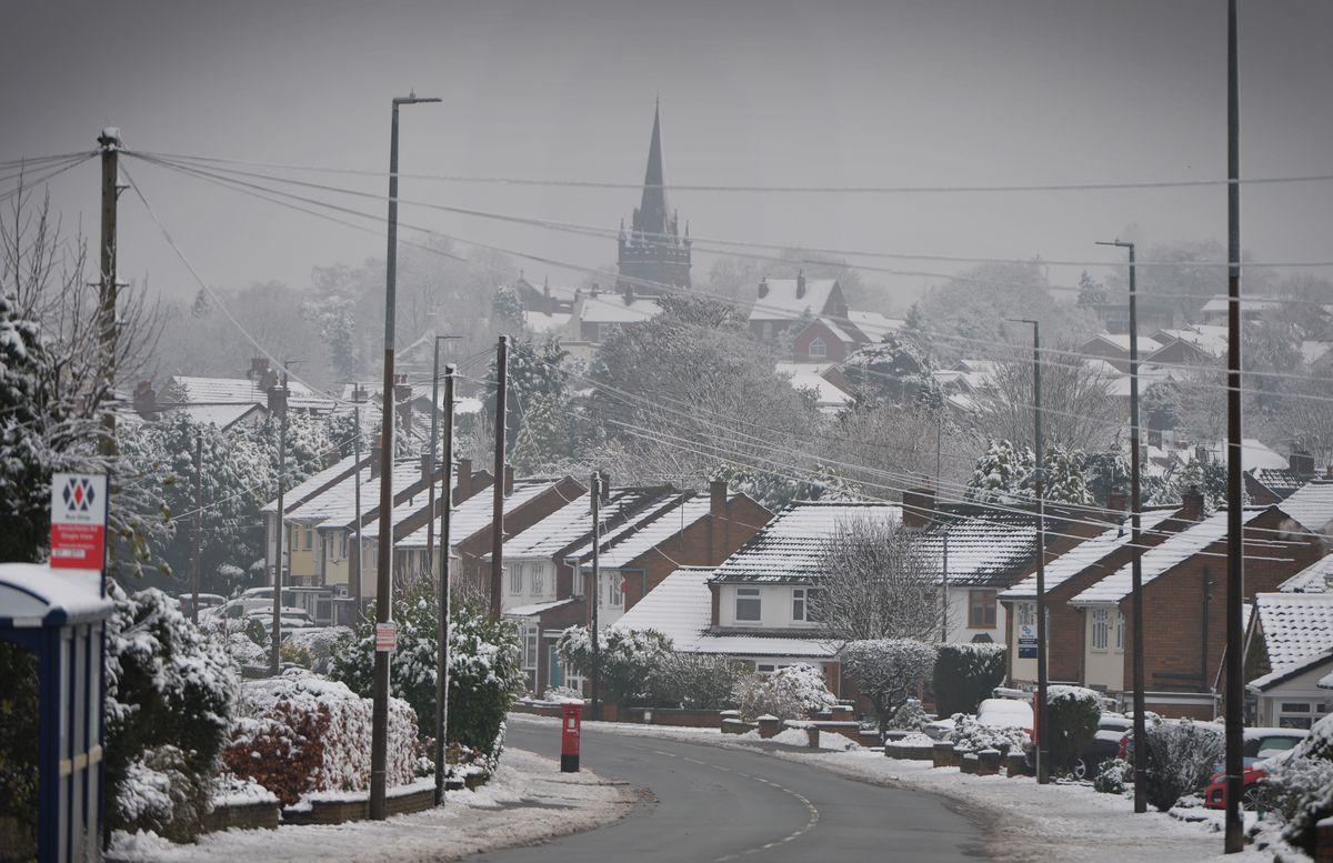 A winter view of All Saints Church, Sedgley